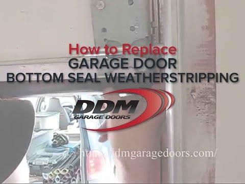 How To Replace Garage Door Bottom Seal Weatherstripping