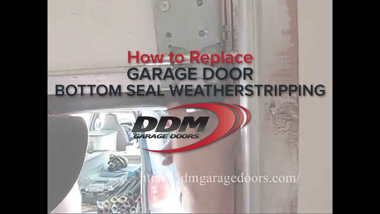 How to replace garage door bottom seal weatherstripping youtube rubansaba