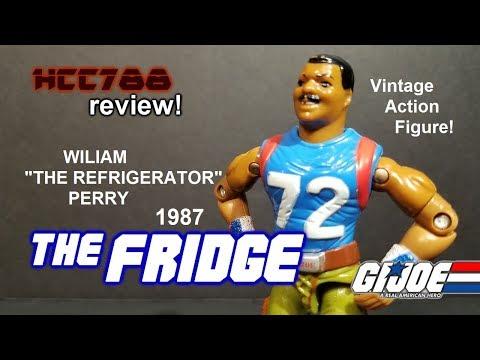 "HCC788 - 1987 THE FRIDGE - William ""Refrigerator"" Perry - Vintage G.I. Joe toy!"