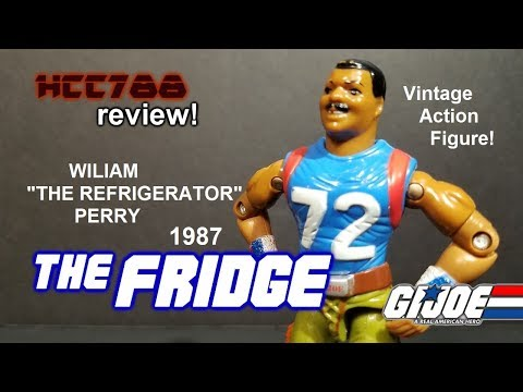 "HCC788 - 1987 THE FRIDGE - William ""Refrigerator"" Perry - Vintage G.I. Joe toy!"