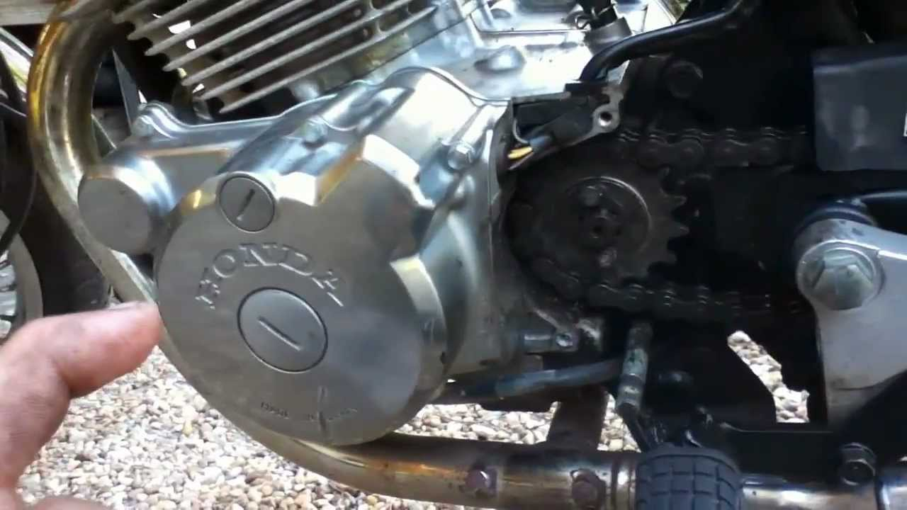 how to change front sprocket on honda nighthawk 250 and rebel 250 [ 1280 x 720 Pixel ]