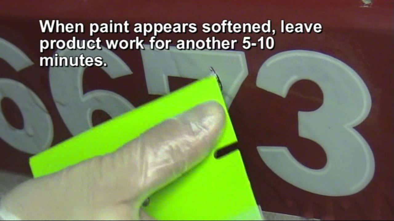 GraphXOff Vinyl Adhesive And Paint Remover HowTo Remove - Boat decals and lettering   easy removal