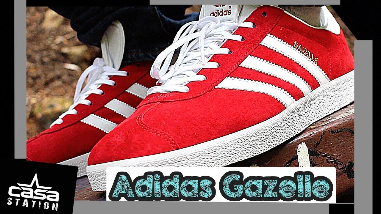68478e39809b Adidas Gazelle (Red) On Feet! - YouTube