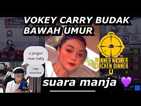 JUMPA RANDOM SUARA MANJA .Vokey Dan Din Jumper Auto Carry Game Sampai Chicken 😂‼️ SANHOK