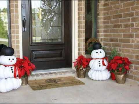 Decoracion de navidad para la puerta de entrada youtube for Decoracion de puertas para navidad