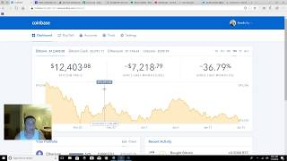BITCOIN PRICE FELL LOW. TIME TO BUY NOW! Coinbase Gdax Overview Buy Sell Market Limit Stop