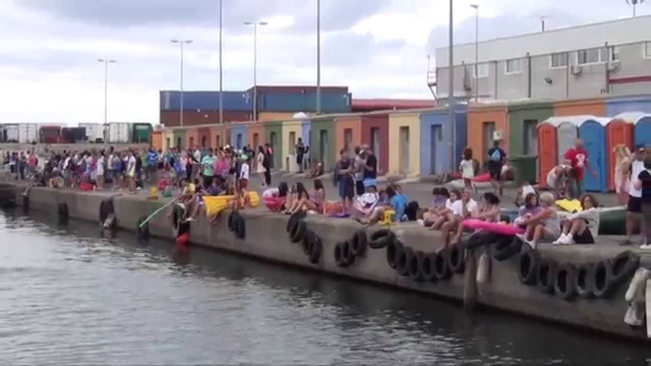 Cruce a Nado Cucañas Maritimas Fiestas Puerto Sagunto 2015