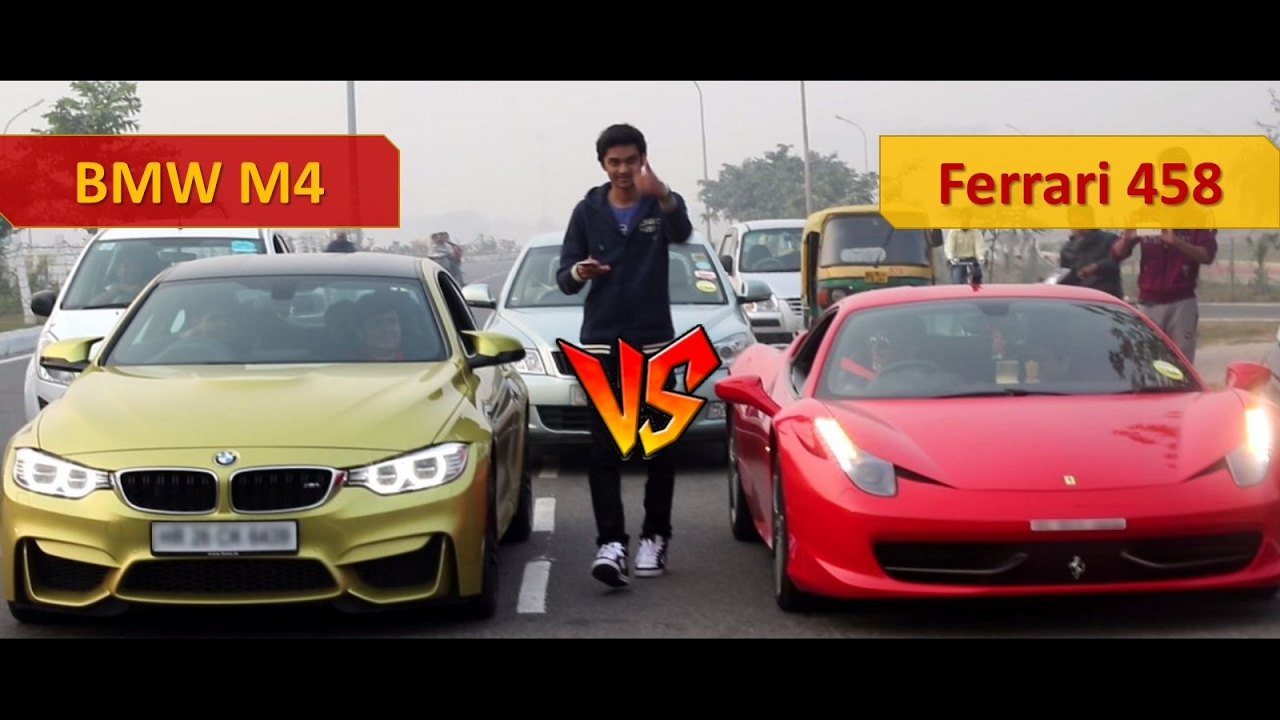 Street Racing In India Bmw And Ferrari Italia Supercar