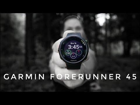 Garmin Forerunner 45 - обзор умных спортивных часов начального уровня