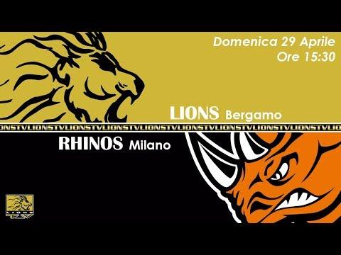 Lions Bergamo vs Rhinos Milano