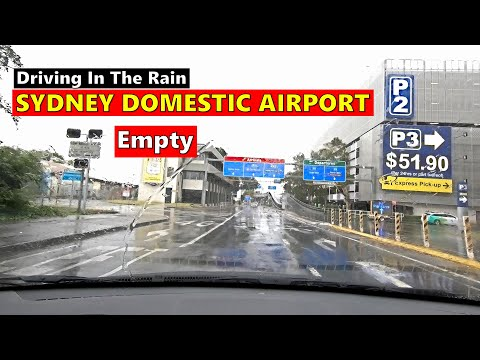 Driving To SYDNEY DOMESTIC AIRPORT On A Rainy Day - May 2020 - Australia
