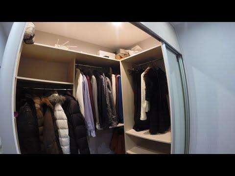 Встроенная гардеробная в квартире на заказ