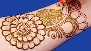 Rakhi Special Mehndi Design for Hands | Easy Floral Mehndi Design For Hands by Sonia Goyal #019