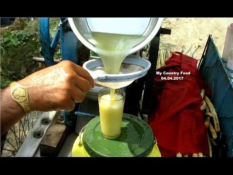 Indian Street Food Fresh Sugarcane Juice  -  Indian Street Food Kolkata - Bengali Street Food India