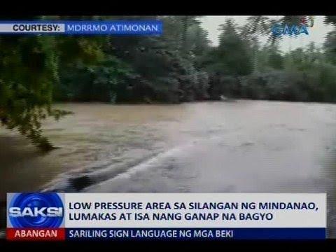 Low pressure area sa Silangan ng Mindanao, lumakas at isa nang ganap na bagyo