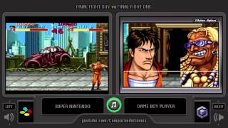 Final Fight (SNES vs GBA) Side by Side Comparison (Game Boy Player)