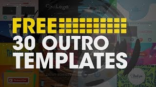 30 Outro Templates Free | After Effects | 2016