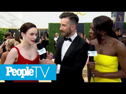 Rachel Brosnahan On The Success Of 'The Marvelous Mrs. Maisel'  Emmys 2018  PeopleTV