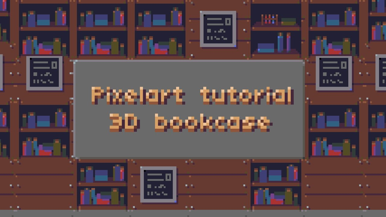 Tutorial 3D Low Poly Pixel Art Bookcase