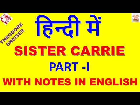 Sister Carrie In Hindi # Theodore Dreiser . Part- I  American Novel .   .. MEG ... MA ENGLISH ...