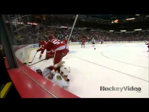 Jonathan Ericsson big hit on Bryan Bickell . May 23, 2013