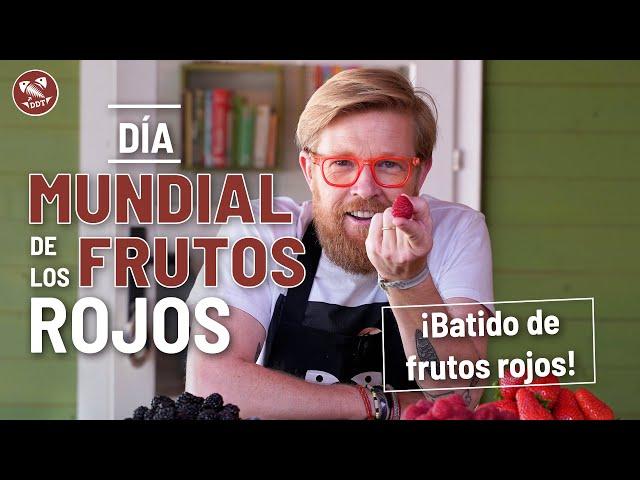 ¡Prepara tu batido de frutos rojos! #DíaMundialFrutosRojos