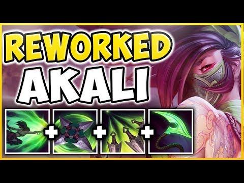 WORLDS FIRST AKALI REWORK GAMEPLAY! ALL SPELLS, NEW SKINS, EMOTES REVEALED! - League of Legends