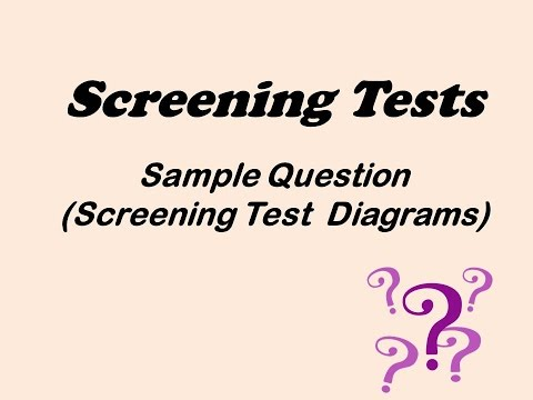 Epidemiology sample question on screening test diagram youtube epidemiology sample question on screening test diagram ccuart Image collections