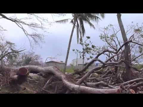 Footage from Vanuatu after Cyclone Pam