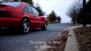 Foxbody Mustang Flowmaster vs Straight pipes Exhaust