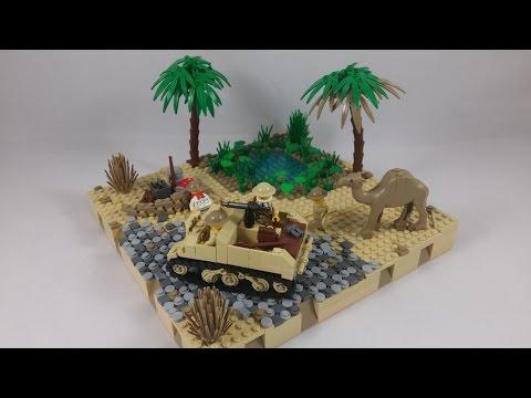"""LEGO WW2 North Africa MOC """"Oasis""""   HD"""