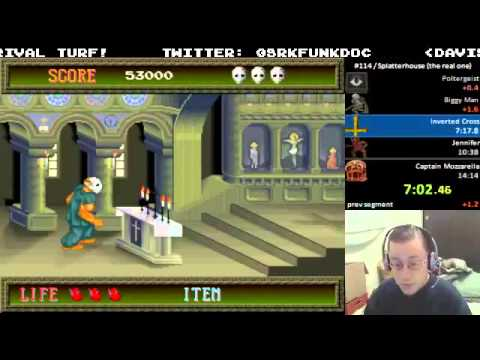 Splatterhouse (MAME) - Speedrun in 14:08 by funkdoc