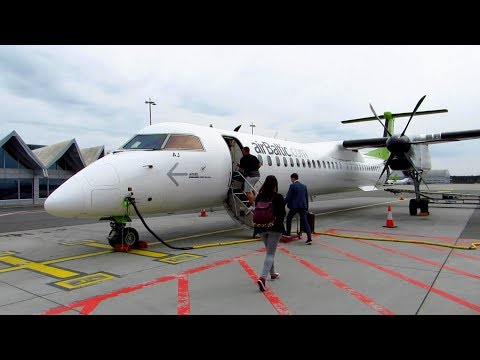 TRIP REPORT | Air Baltic Dash 8 | Riga to Stockholm | EMPTY Flight | Economy Class [Full HD]