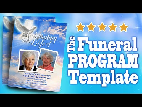 Funeral programs with funeral program templates youtube for Memorial pamphlets free templates