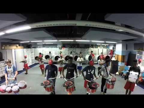Plantation High School DrumLine In Rehearsal  10/22/15