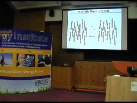 Applications of Liquid Crystalline Ordering in PVs - Ivan Smalyukh