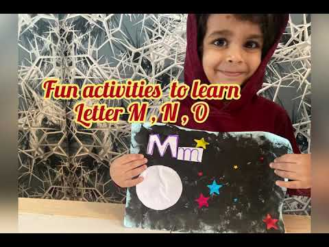 Fun activity to learn Alphabets M , N and O #preschooleractivity#alphabet#toddler