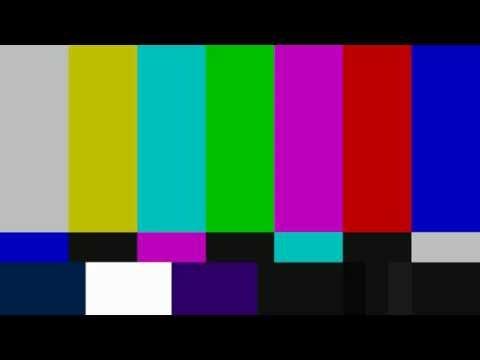 SMPTE Television Color Test Calibration Bars and 1Khz Sine Wave For 6 Hours