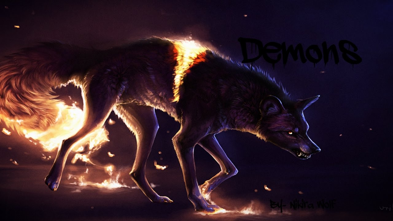 red winged demon wolf