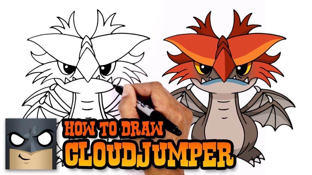 How To Draw Cloudjumper How To Train Your Dragon Youtube