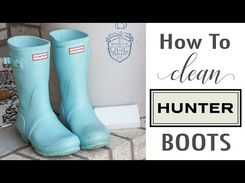 How To Clean Hunter Boots With Mr. Clean Magic Eraser! Before & After