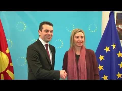 Mogherini with Nikola POPOSKI, Foreign Minister of Former Yugoslav Republic of Macedonia