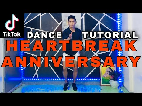 HEARTBREAK ANNIVERSARY| TIKTOK DANCE TUTORIAL|STEP BY STEP| DANCE GURU