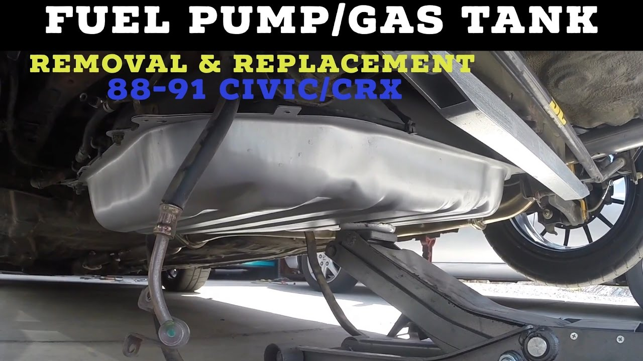 Fuel pump gas tank removal replacement diy how to 88 91 civic crx