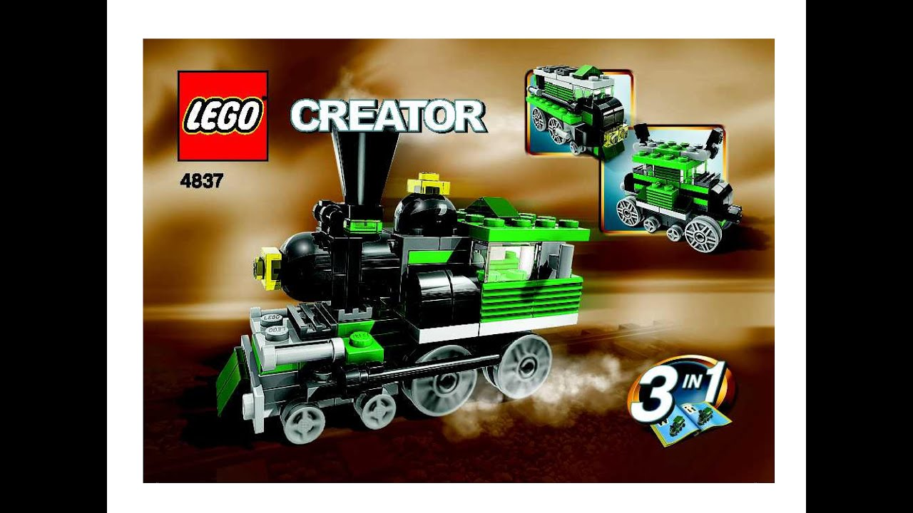 Lego 4837 INSTRUCTION BOOK For Creator 3 in 1 Mini Trains