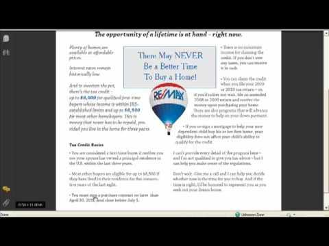 $8000 & $6500 Home Buyer Tax Credits