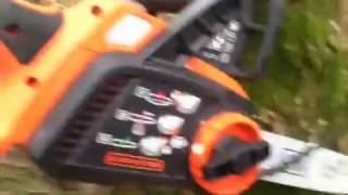 How to replace chainsaw blade on a Black & Decker 20 V chainsaw rechargeable