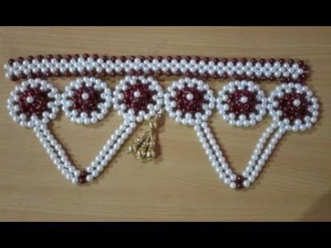 Pearl Beaded Door Hanging/ Toran/ Bandanwar # 7 & Pearl Beaded Door Hanging/ Toran/ Bandanwar # 7 - YouTube