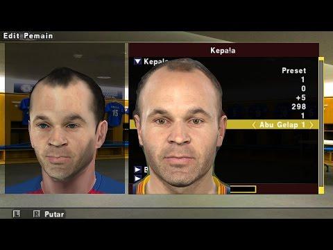 cara membuat texture face PES PPSSPP sendiri via Android
