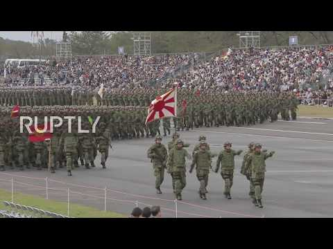 Japan: Self Defence Forces display military might in Tokyo p